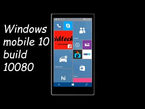 Windows Mobile (phone) 10 update 3 Build 10080 on Lumia 630