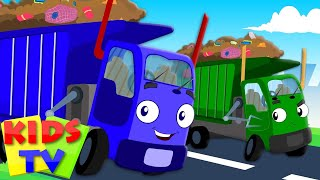 Wheels On The Garbage Truck | Nursery Rhymes For Kids