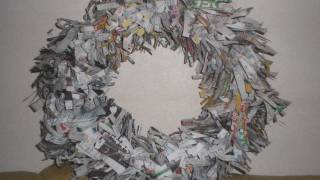 How To Make 'news Paper'wreath