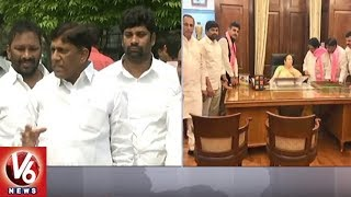 TRS MPs Meets Union Ministers Over Tribal & Minority Reservations | V6 News