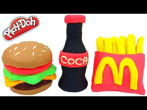 Pig George da Familia Peppa Como Fazer McDonalds com Massinha de Modelar Play-Doh Em Portugues