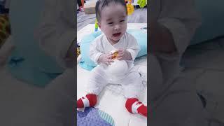 Em bé 8 tháng gọi cha siêu yêu - káo 8m 💖