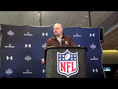 Browns coach Mike Pettine at NFL Combine