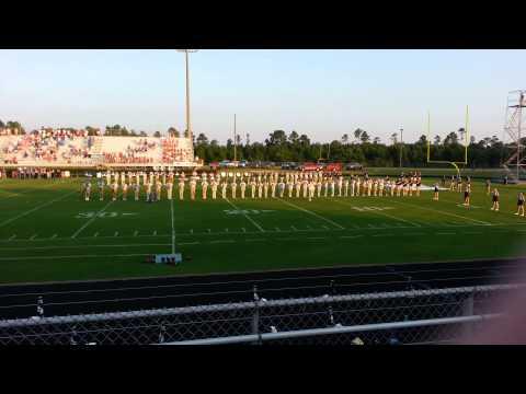 Alma Bryant High School band Flag Ceremony 2014