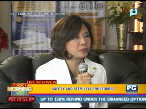 Panayam kay Dr. Cristina Puyat tungkol sa Stem Cell Procedure and safety