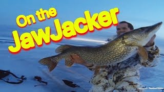 Jaw jacker pike and walleye ice fishing in frigid cold for Jaw jacker ice fishing
