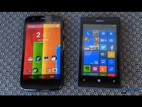 Moto G vs Lumia 520