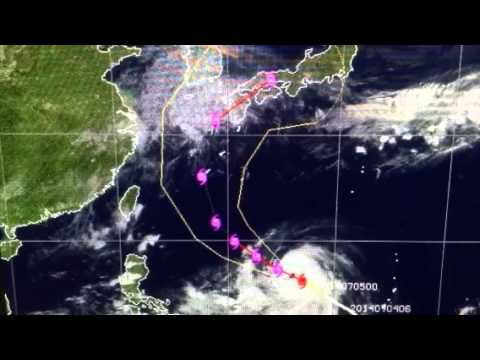 """Super Typhoon Neoguri"" Cat 5 (Apocalyptic Arrival) Japan"
