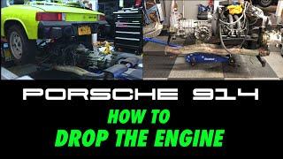 Porsche 914 engine drop DIY