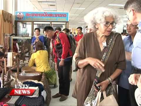 Lao NEWS on LNTV: The 14th Lao Handicraft Festival in 2015 kicks off.2/11/2015