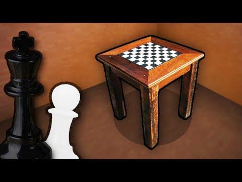 Как сделать шахматный столик