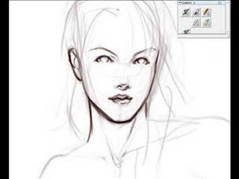 Digital speed sketching  female figure