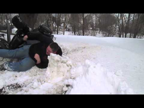 March Snow Romp and Offroad Mower Accident!