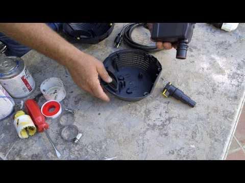 Patio Pond with Bog Filter   Pond Pump Installation & Maintenance - Part 5