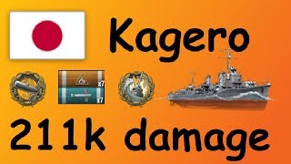 World of Warships   Kagero 211k Damage Gameplay - German Deutsch WoWs