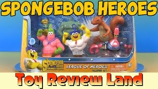 Spongebob League Of Heroes Figures from the Sponge