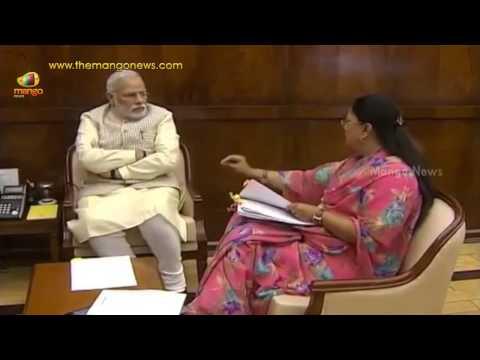 Rajasthan CM Vasundhara Raje calls on India PM Narendra Modi