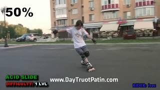 Slide Trick - Kỹ thuật trượt patin phanh Acid Slide - www.DayTruotPatin.com