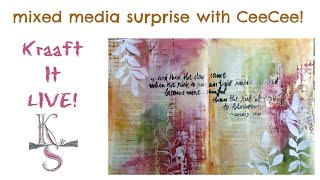 mixed media surprise with CeeCee - Kraaft It LIVE!