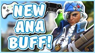 Overwatch - THE CONSOLE ANA BUFF/CHANGE (Ana Finally Meta?!)