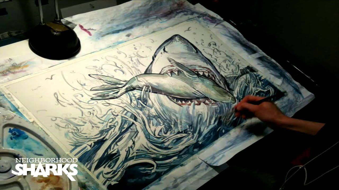 Shark Eating Seal Drawing Shark Attacks Seal—time Lapse