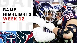 Titans vs. Texans Week 12 Highlights | NFL 2018