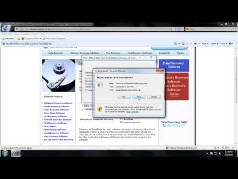 Sharepoint Recovery Software for Corrupted Database File: How to Install