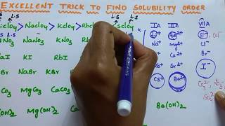 Trick to solve solubility order questions easily | Chemical Bonding trickss