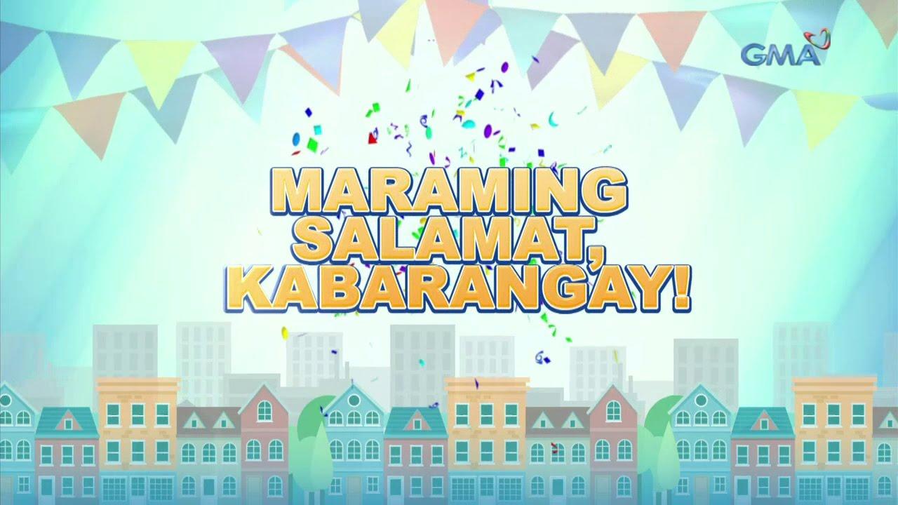 Maraming maraming salamat mga Kabarangay sa maiinit niyong pagsuporta.
