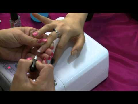 Shellac Application - Nail Art and French Application