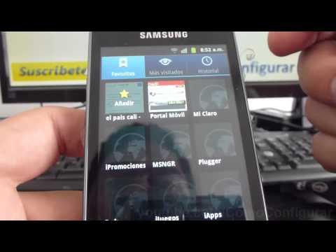 como eliminar historial navegador android samsung Galaxy ace S5830 español Full HD