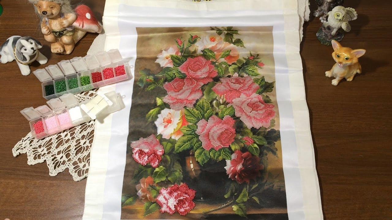 Вышивка розовая элегия 89