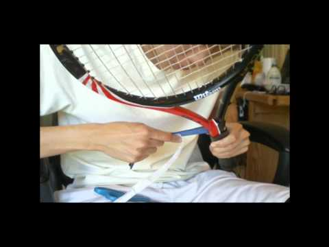 How to install Tennis Replacement Grip - [For real. NOT an OVERGRIP REPLACEMENT]