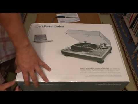Распаковка Виниловый проигрыватель Audio Technica AT LP120 USB