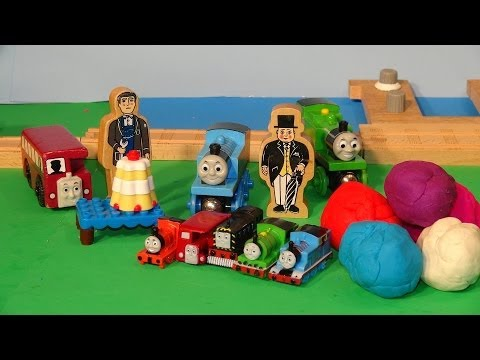Play Doh Surprise Eggs ,thomas And Friends With Sir Topham Hatt Have 5 Play Doh Eggs Delivered By Bu video