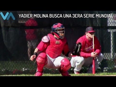 Yadier Molina de los Cardinals de St. Louis.