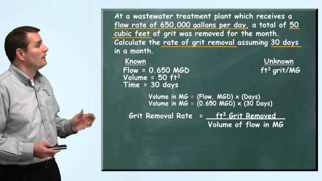 Problem Solved Grit Removal Rate Problem Wastewater