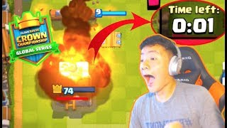 WE BARELY BEAT THE CLOCK IN THE CROWN CHAMPIONSHIP! | Clash Royale RANDOM DECK