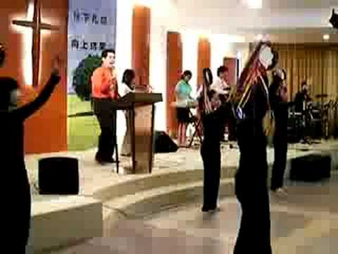 Tambourine dance (song: Majesty, Planet Shakers)
