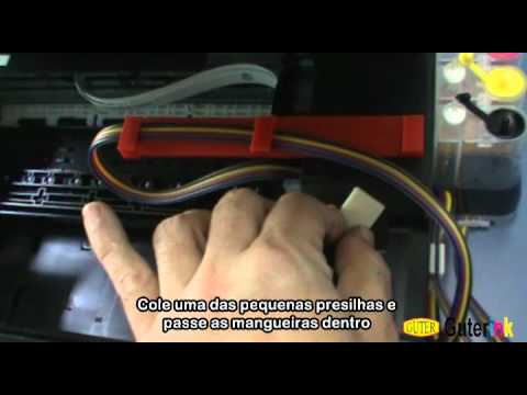 Epson Stylus TX430W e TX235W - Instalação do CIS (Bulk Ink)