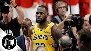 Are LeBron James' Los Angeles Lakers in trouble already?   The Jump