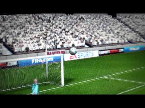 FIFA 2011 PSP First GOAL!!! {Amazing curve}[HD]