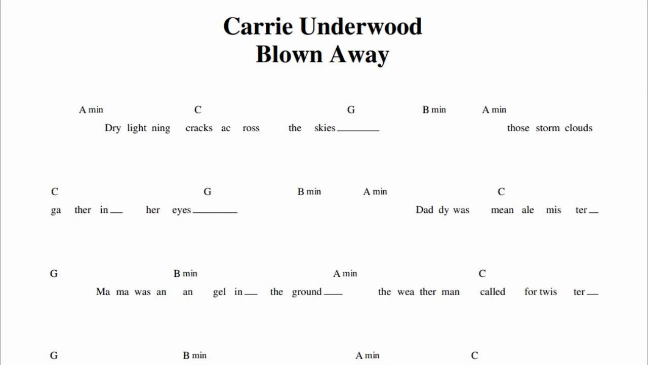 Carrie Underwood - blown away Guitar Chords - YouTube