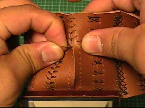 【革の縫い方っ!9】:『ベースボール・ステッチ-③』 レザークラフト動画<016>