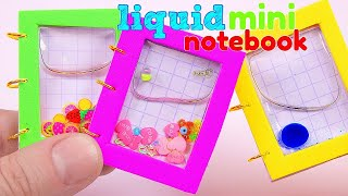 DIY Miniature LIQUID Notebook / DIY HAZ MINI LIBRETAS LÍQUIDAS