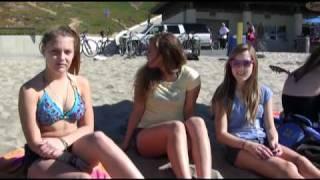 Benny Hill / Paul Hogan style skit at Redondo Beach