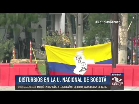 Encapuchados protagonizan tres horas de disturbios en la Universidad Nacional 22 Noviembre 2014