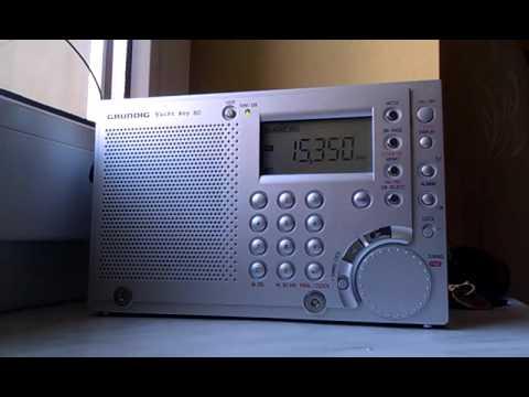 Voice Of Turkey 15350 kHz on Grundig Yacht Boy 80