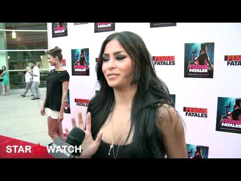 "Michelle Maylene red carpet interview at ""Femme Fatales"" season 2 premiere screening"