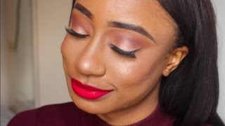 NEUTRAL EYES + THE CLASSIC RED LIP | GRWM